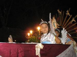 An angel in the Fiesta Patronal in Los Leches, a village outside of Leon