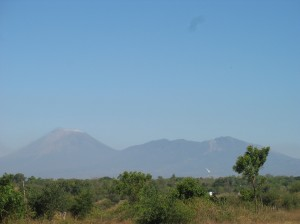 The view from Don Marvin´s land toward Volcan San Cristóbel