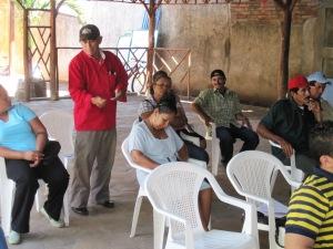 Abrahan Escoto Juarez talking to the group.