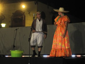 Sobeyda (right), as a campasino woman, one of the many characters she played in the peice.
