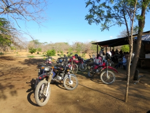 Fourteen motorcycles and one truck brought 24 farmers to our workshop!